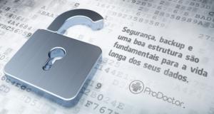 Como devo proteger os dados da minha clínica?
