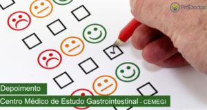 Depoimento do Centro Médico de Estudo Gastrointestinal – CEMEGI sobre software de gestão