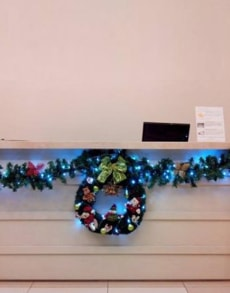Como decorar uma clínica médica para o Natal