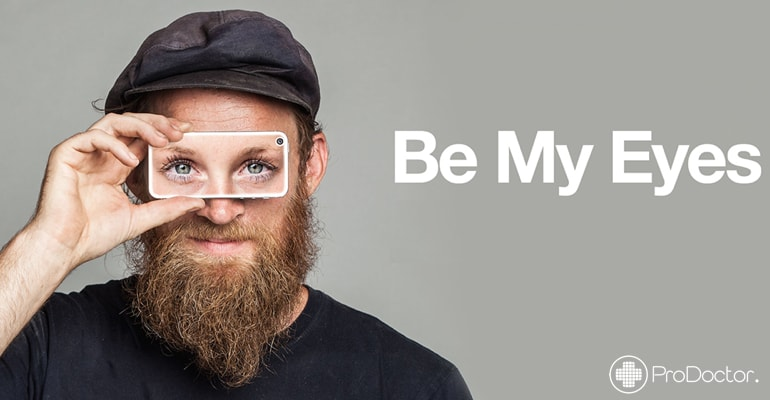 Be My Eyes - Aplicativo permite ser os olhos de um deficiente visual
