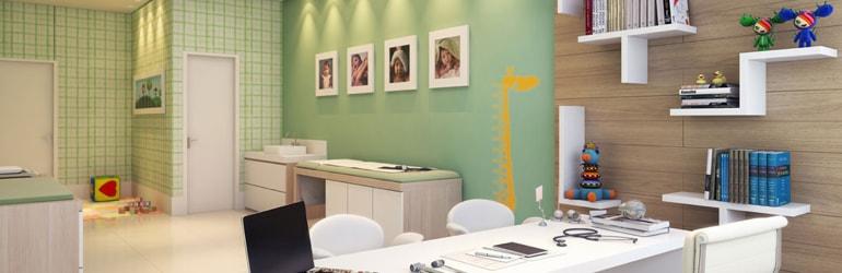 Consultório Pediatria - Decoração Sala do médico