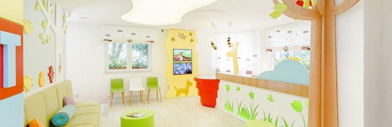 Decoração Sala de Espera Clíncia de Pediatria