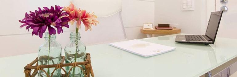 Flores decoração clínica ginecologia