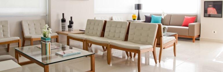 Cadeiras, poltronas e cortinas Consultórios Médicos