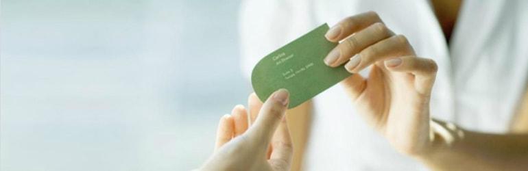 Cartões de Visita com material reciclado para Médicos e Clínicas