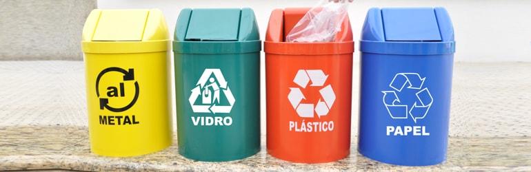 Separar o material reciclável de clínicas médicas
