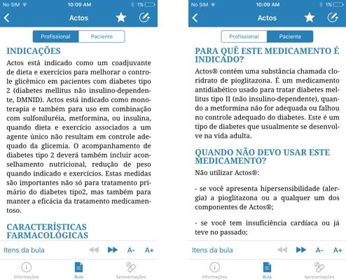 Aplicativo para consulta de bulas ProDoctor Medicamentos