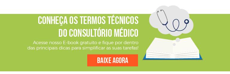 Banner e-book dicionário dos termos técnicos do consultório médico