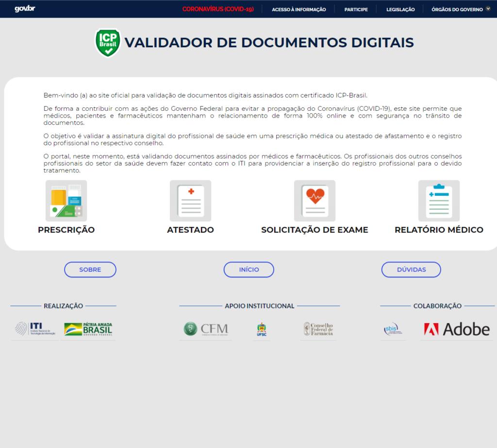 plataforma desenvolvida em parceria pelo CFM, CFF e ITI