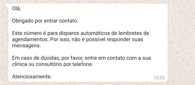 Mensagem de Retorno WhatsApp