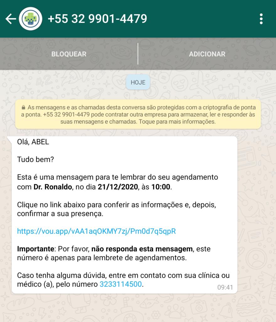 Tela para WhatsApp